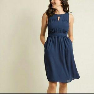 Modcloth Fervour Dress Navy Flaunts and Needs
